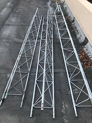 AMERICAN TOWER, ROHN TOWER STYLE- USED 10 FT SECTIONS X 3 (local pickup  only)