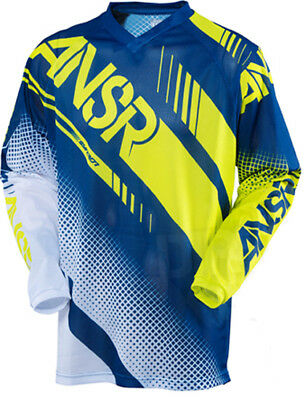 New Answer Youth Syncron Jersey MX ATV White Navy Acid