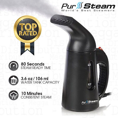 PurSteam Elite 850w Garment/Clothes/Fabric Vertical Compact Travel Hand Steamer
