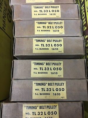 UNIROYALTiming Belt Pulleys TL32 L 050, LOT OF 2, NEW OLD STOCK IN ORG. BOXES