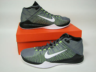 Nike Zoom Ascention Mens Basketball Shoes Cool Gray/Volt 832234-004 Size 9.5