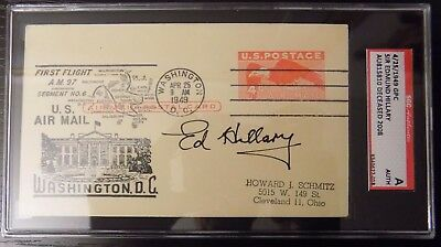 Sir Edmund Hillary Signed 1949 Post Marked w/ SGC Authentic