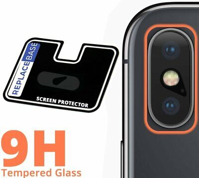 REPLACEBASE | iPhone X Premium Tempered Glass Camera Lens Cover Protector 9H