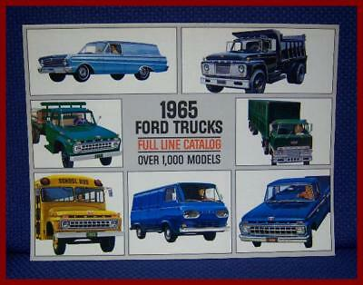 1965 Ford TRUCKS Color Sales Brochure - EXCELLENT NEW OLD STOCK ORIGINAL!