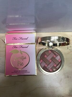 TOO FACED Sweetie Pie Radiant Matte Bronzer Peaches & Cream LIGHTLY USED IN BOX