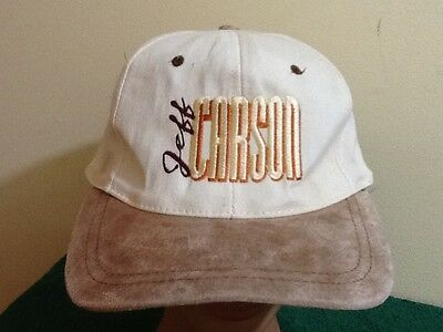 Vtg Vintage Jeff Carson Snapback hat cap country western music 90s, Embroidered