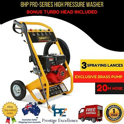 GIANTZ 8HP High Pressure Washer Cleaner Petrol Water 20M Pump Gurney 4800PSI New
