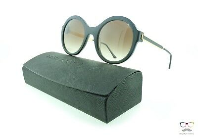 Thierry Lasry Sunglasses Milfy 101 Black & Gold / Gradient Brown Lenses Round