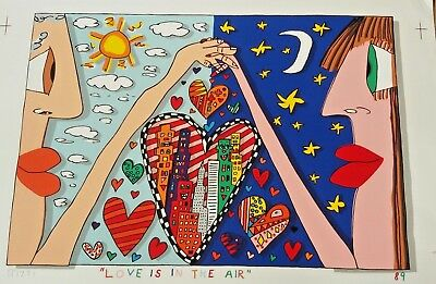 "James Rizzi ""Love is in the air"" 2 Stück, handsigniert!"