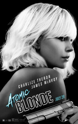 ATOMIC BLONDE MOVIE POSTER 2 Sided ORIGINAL Ver B 27x40 CHARLIZE THERON