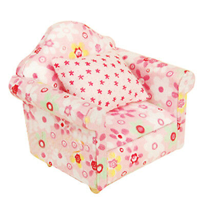 BABY Sofa Miniature Couch Toy Furniture Floral Dolls Living Room ...