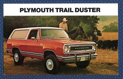1974 Plymouth TRAIL DUSTER Sport Utility Vehicle Oversized Postcard - NOS