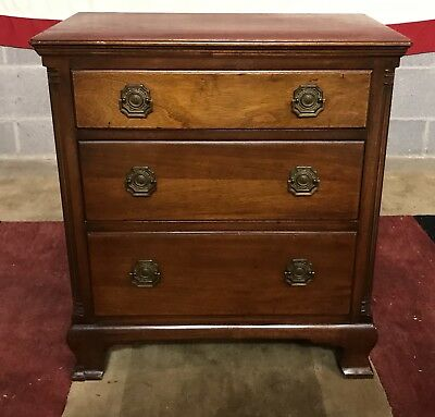 Imperial - Solid Mahogany 3 Drawer Chest Nightstand Jeffersonian Imperials