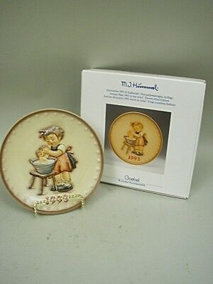 "Hummel 1993 Annual Plate ""Doll Bath"" MIB by Goebel"