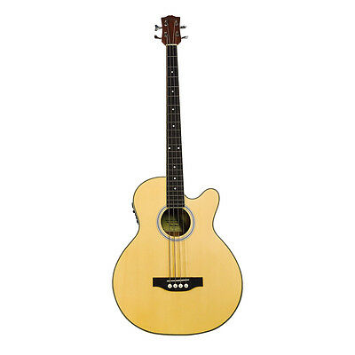 Coban Bass *CGAB10 4eq Electro Acoustic Bass 4 string Guitar in Zebrawood ONLY
