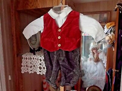 Baby boy vintage looking dress outfit-3 to 6 months.. Made all together -1 piece