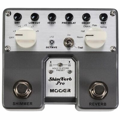 New Mooer ShimVerb Pro Twin Series Digital Reverb Guitar Effects Pedal, TVR1