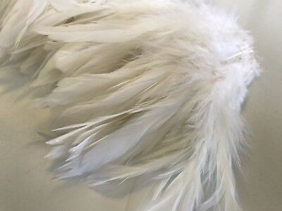 20pcs White Fluffy Rooster Feathers 12-18cm DIY  Craft Millinery Dream Catcher