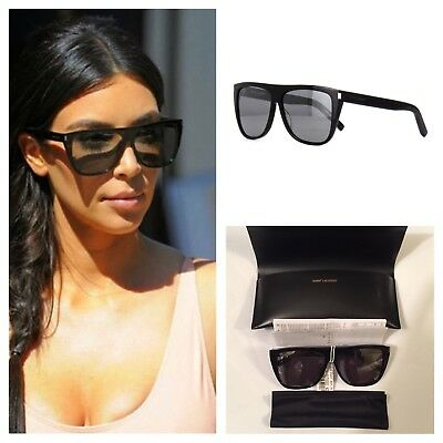 540d1004ab1 SAINT LAURENT NEW SL 1 SL1 Black Grey (001) KIM KARDASHIAN Sunglasses  380  NWT