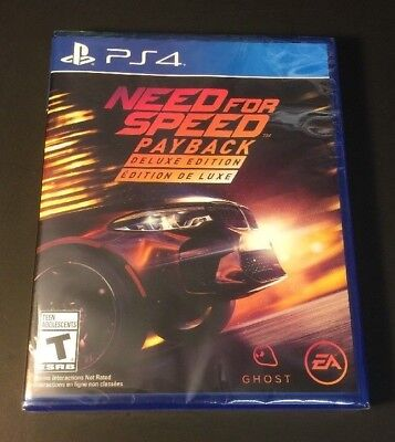 need for speed payback deluxe edition playstation 4 ps4 brand new sealed cad picclick ca. Black Bedroom Furniture Sets. Home Design Ideas