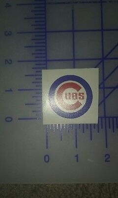 (4)chicago cubs vinyl decal cell phone size