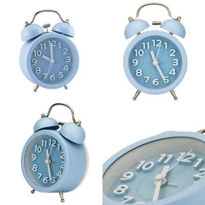 "Pilife 3"" Mini Non-Ticking Vintage Classic Bedside /Table Analog Alarm Clock Wit"