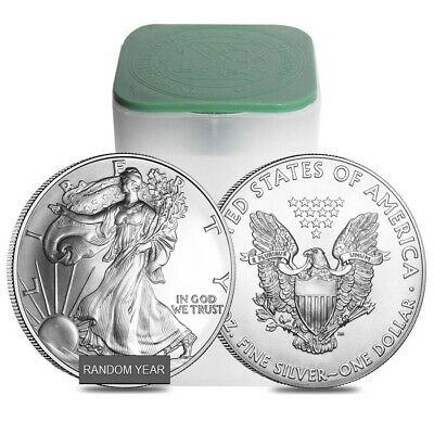 Roll of 20 - 1 oz Silver American Eagle BU (Random Year)