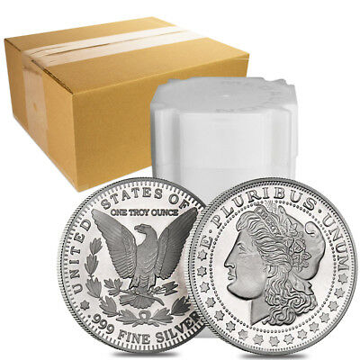 Monster Box of 500 - 1 oz Morgan Silver Round .999 Silver (25 Lot,Tube of 20)