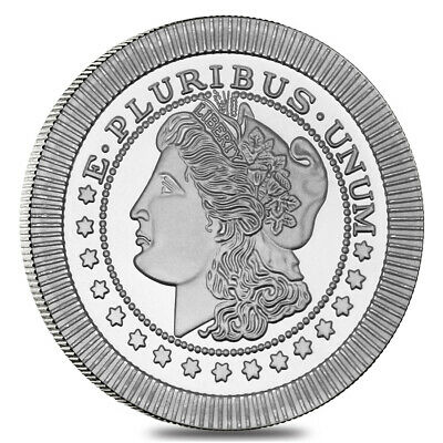 1 oz Morgan Stackable Silver Round .999 Silver