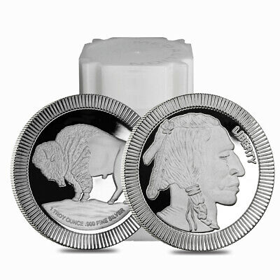 Sale Price - Roll of 20 - 1 oz Buffalo Stackable Silver Round .999 Silver