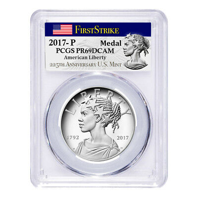 2017 P 1 oz American Liberty High Relief Proof Silver Medal PCGS PF 69 First
