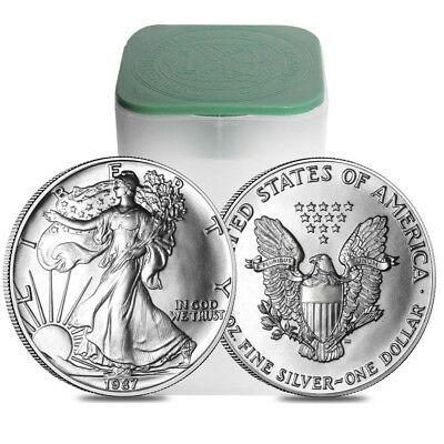 Roll of 20 - 1987 1 oz Silver Eagles Brilliant Uncirculated