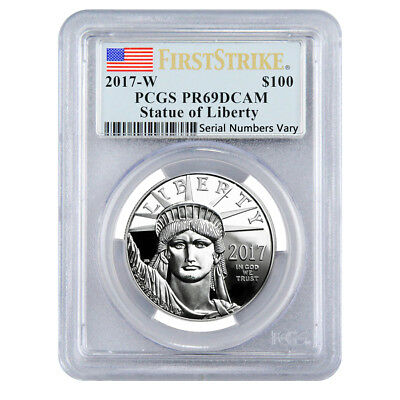 2017-W 1 oz Platinum American Eagle Proof Coin PCGS PF 69 DCAM First Strike -