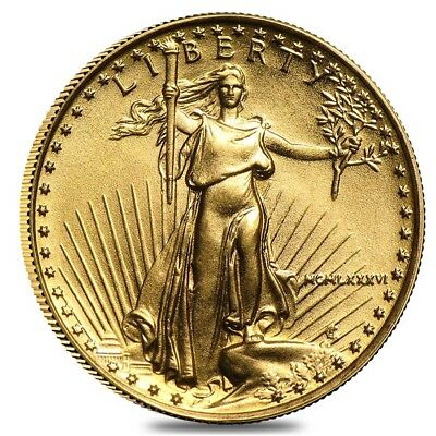 1986 1/10 oz Gold American Eagle BU (MCMLXXXVI) - First Year of Issue