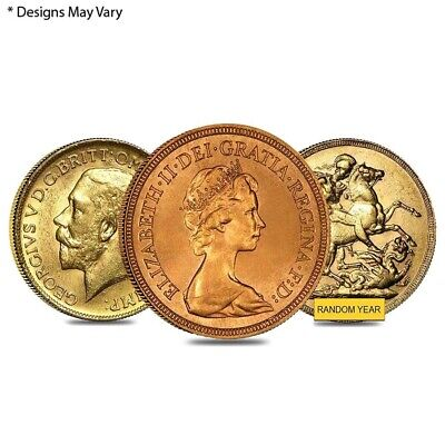 British Gold Sovereign Coin (Random Year)