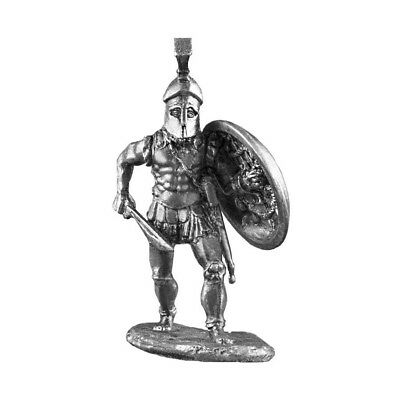 3 oz Silver Spartan Hoplite Greek Warrior .925 Silver Sterling - Art of War