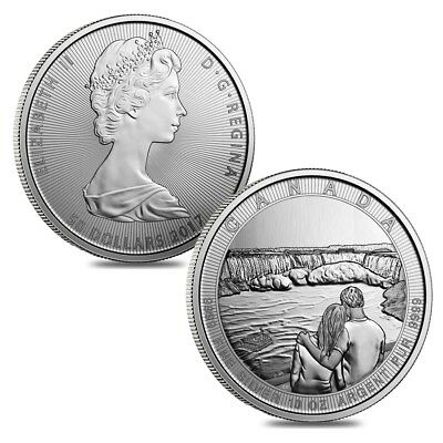 Sale Price - Lot of 2 - 2017 10 oz Silver Canada the Great CTG Niagara Falls $50