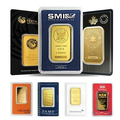 1 oz Generic Gold Bar .9999 Fine IRA-approved (In Assay)