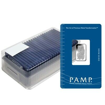 Box of 25 - 5 gram PAMP Suisse Lady Fortuna Platinum Bar .9995 Fine (In Assay)