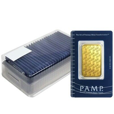 Box of 25 - 1 oz Gold Bar - PAMP Suisse - New Design (In Assay)