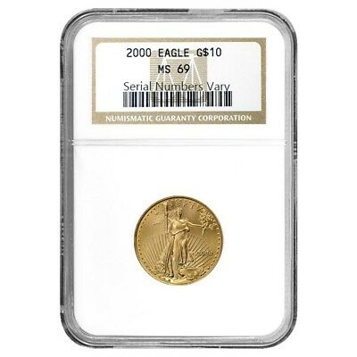 2000 1/4 oz $10 Gold American Eagle NGC MS 69