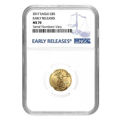 2017 1/10 oz Gold American Eagle NGC MS 70 Early Releases