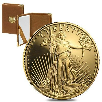 2017-W 1 oz $50 Proof Gold American Eagle (w/Box & COA)