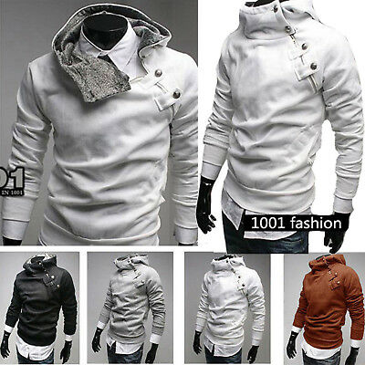 Men's Outwear Sweater Winter Hoodie Warm Zip Coat Jacket Slim Hooded Sweatshirt