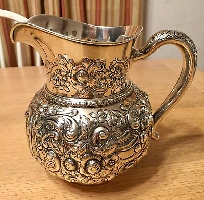 Gorham 1898 Sterling Silver Water Pitcher monogrammed - beautiful!