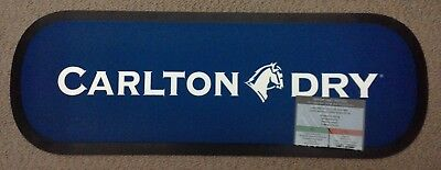 Carlton Dry Beer Rubber Backed Bar Runner/mat Brand New