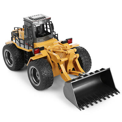 HUINA 1520 1:18 2.4G 6CH RC Simulation Alloy Truck Vehicle Construction Toy Gift