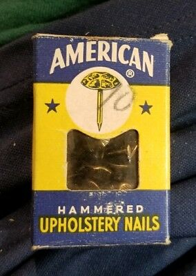 Vintage American Hammered Upholstery Nails In Original Box