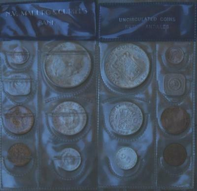 Unc Netherlands Antilles And Curacao Mint Set 1944-1967 7 Coins Silver