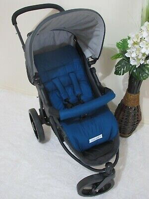 Pram liner set,universal,100% cotton fabric-Patrol blue-Funky babyz
